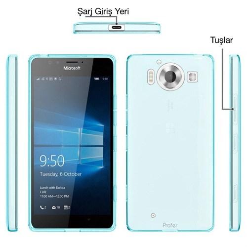 Teleplus Microsoft Lumia 950 Xl Silikon Kılıf Mavi