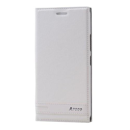 Teleplus Lenovo A7000 Mıknatıslı Lüx Kılıf Beyaz