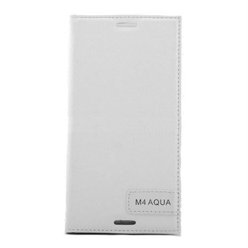 Teleplus Sony Xperia M4 Flip Cover Kılıf Beyaz