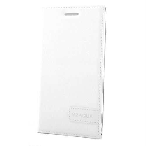Teleplus Sony Xperia M2 Flip Cover Kılıf Beyaz