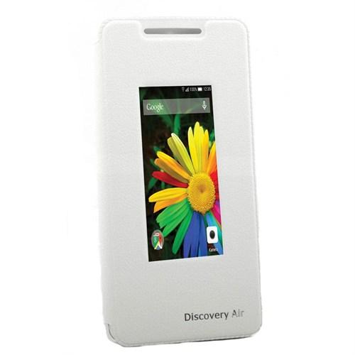 Teleplus Genel Mobile Discovery Air Geniş Pencereli Kılıf Beyaz