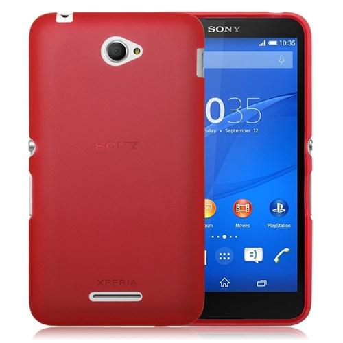Teleplus Sony Xperia E4g Silikon Kılıf Kırmızı
