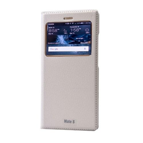 Teleplus Huawei Mate S Pencereli Kılıf Beyaz