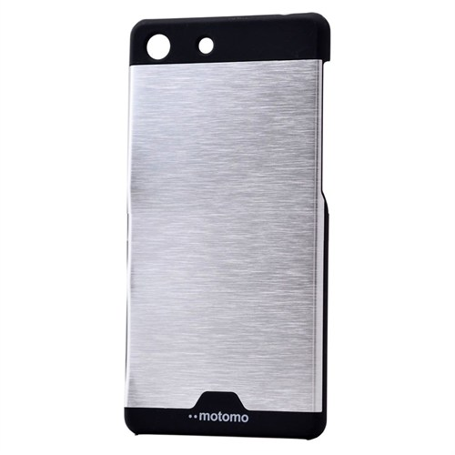 Teleplus Sony Xperia M5 Metal Kapak Tam Korumalı Gri