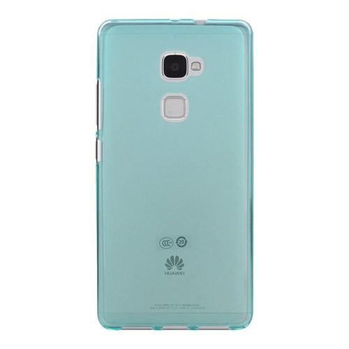 Teleplus Huawei Mate S Silikon Kılıf Mavi +Temperli Kırılmaz Cam
