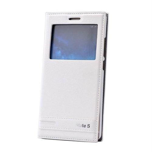 Teleplus Huawei Mate S Lüx Pencereli Kılıf Beyaz