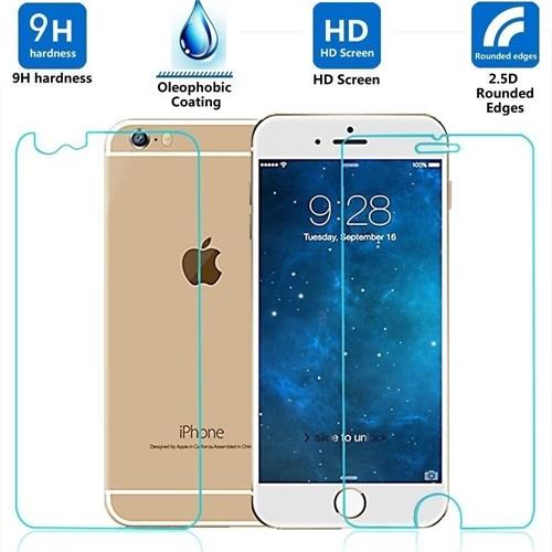 Sonmodashop Apple iPhone 6 Plus Ön Arka Temperli Cam Kırılmaz Ekran