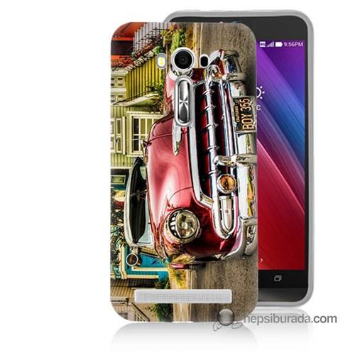 Teknomeg Asus Zenfone Laser 5.0 Kapak Kılıf Klasik Araba Baskılı Silikon