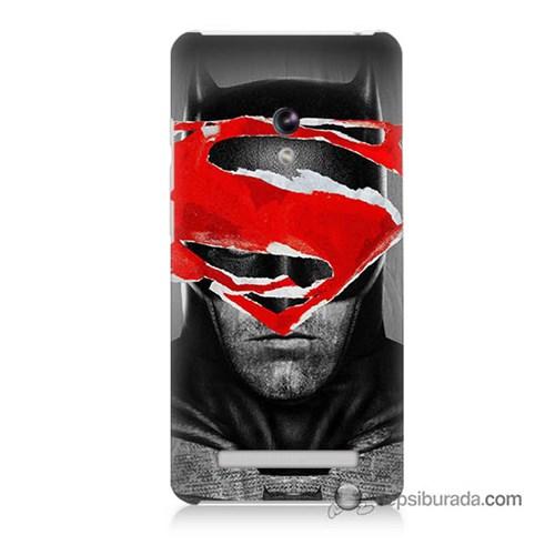 Teknomeg Asus Zenfone 5 Lite Kapak Kılıf Batman Vs Superman Baskılı Silikon