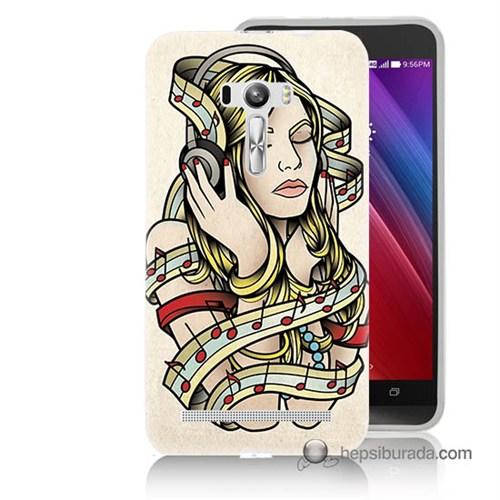 Teknomeg Asus Zenfone Selfie Kapak Kılıf Müzik Aşkı Baskılı Silikon