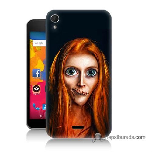 Teknomeg Casper Via V3 Kılıf Kapak Zombie Kız Baskılı Silikon