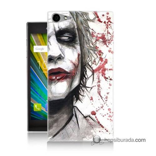 Teknomeg Casper Via V9 Kapak Kılıf Kanlı Joker Baskılı Silikon