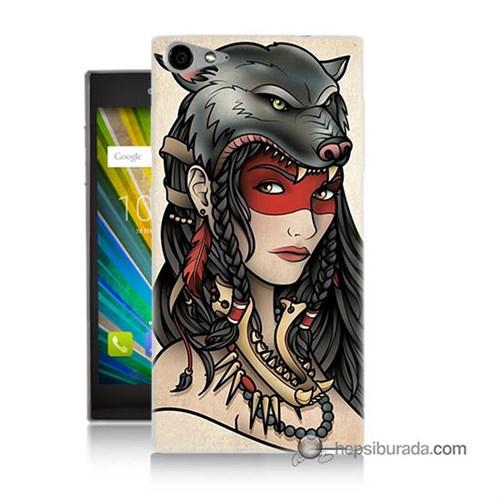 Teknomeg Casper Via V9 Kapak Kılıf Pocahontas Baskılı Silikon