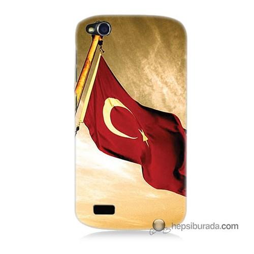 Teknomeg General Mobile Discovery Kılıf Kapak Türk Bayrağı Baskılı Silikon