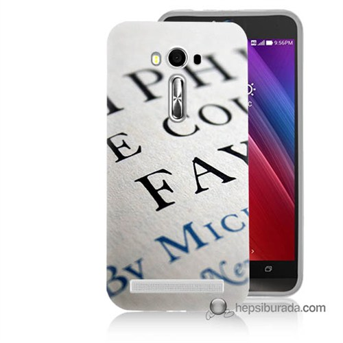 Teknomeg Asus Zenfone Laser 5.5 Kapak Kılıf Yazılar Baskılı Silikon