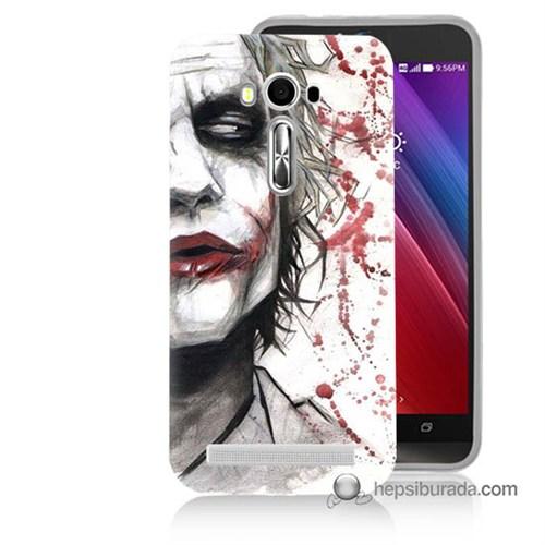 Teknomeg Asus Zenfone Laser 5.5 Kapak Kılıf Kanlı Joker Baskılı Silikon