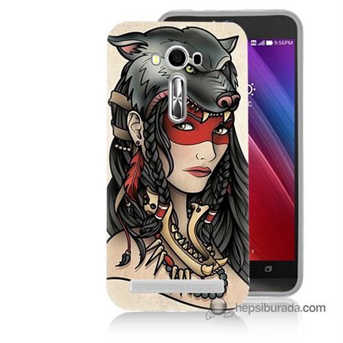 Teknomeg Asus Zenfone Laser 5.5 Kapak Kılıf Pocahontas Baskılı Silikon