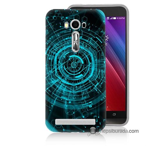 Teknomeg Asus Zenfone Laser 5.0 Kapak Kılıf Asit Baskılı Silikon