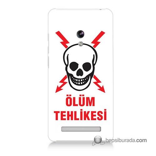 Teknomeg Asus Zenfone 5 Kapak Kılıf Ölüm Tehlikesi Baskılı Silikon