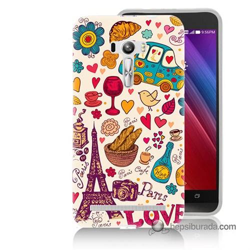 Teknomeg Asus Zenfone Selfie Kapak Kılıf Paris Love Baskılı Silikon