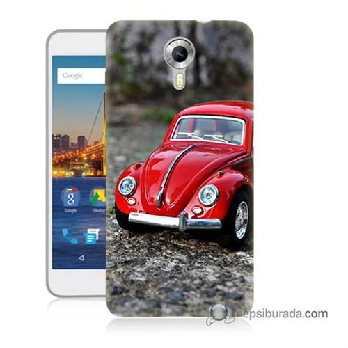 Teknomeg General Mobile 4G Android One Kılıf Kapak Volkswagen Baskılı Silikon