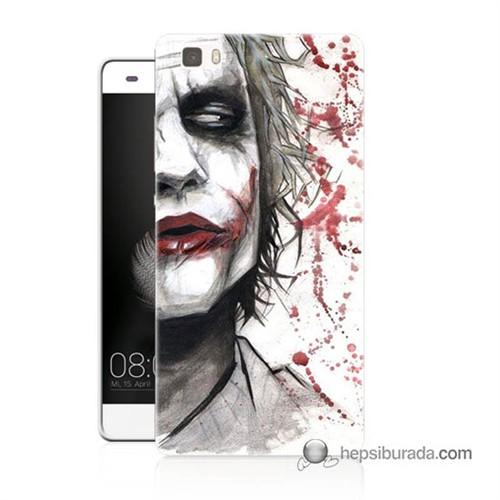 Teknomeg Huawei Ascend P8 Lite Kapak Kılıf Kanlı Joker Baskılı Silikon