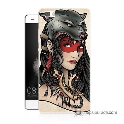Teknomeg Huawei Ascend P8 Lite Kapak Kılıf Pocahontas Baskılı Silikon