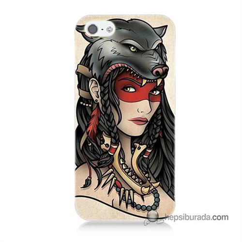 Teknomeg İphone Se Kapak Kılıf Pocahontas Baskılı Silikon