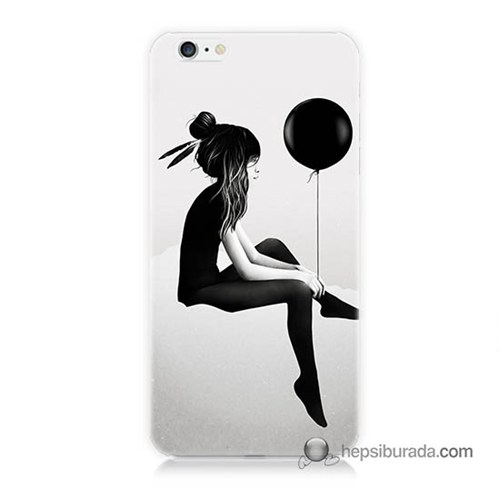 Teknomeg İphone 6S Plus Kapak Kılıf Balonlu Kız Baskılı Silikon