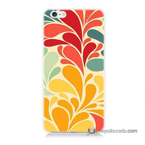 Teknomeg İphone 6S Plus Kapak Kılıf Çiçekler Baskılı Silikon