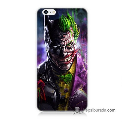 Teknomeg İphone 6S Plus Kılıf Kapak Batman Vs Joker Baskılı Silikon