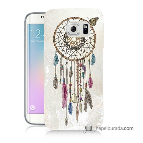Teknomeg Samsung Galaxy S6 Edge Kapak Kılıf Dream Catcher Baskılı Silikon