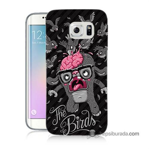 Teknomeg Samsung Galaxy S6 Edge Kılıf Kapak The Birds Baskılı Silikon