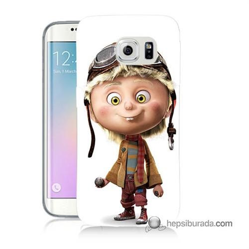 Teknomeg Samsung Galaxy S6 Edge Kılıf Kapak Çizgi Karakter Baskılı Silikon