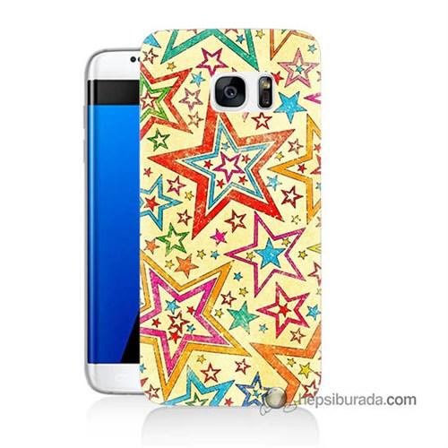 Teknomeg Samsung Galaxy S7 Edge Kılıf Kapak Yıldızlar Baskılı Silikon