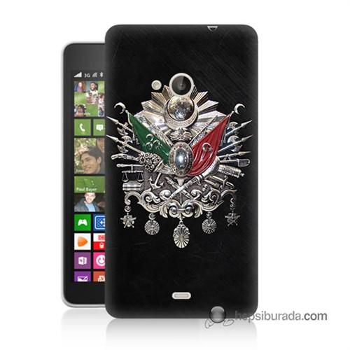 Teknomeg Nokia Lumia 535 Kapak Kılıf Osmanlı Baskılı Silikon