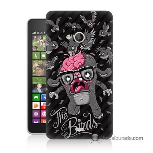 Teknomeg Nokia Lumia 535 Kılıf Kapak The Birds Baskılı Silikon