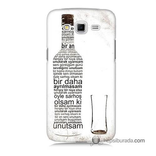 Teknomeg Samsung Galaxy Grand 2 Kapak Kılıf Rakı Şişesi Baskılı Silikon