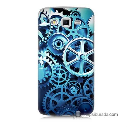 Teknomeg Samsung Galaxy Grand 2 Kapak Kılıf Çarklar Baskılı Silikon