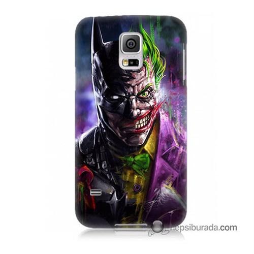 Teknomeg Samsung Galaxy S5 Mini Kılıf Kapak Batman Vs Joker Baskılı Silikon