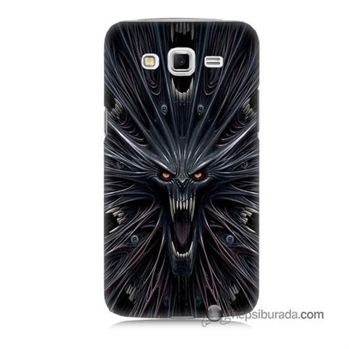 Teknomeg Samsung Galaxy Grand 2 Kılıf Kapak Korku Canavarı Baskılı Silikon