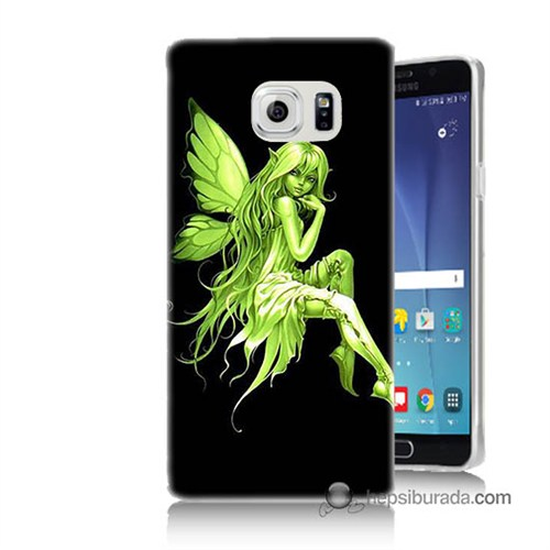 Teknomeg Samsung Galaxy Note 5 Kapak Kılıf Peri Kızı Baskılı Silikon