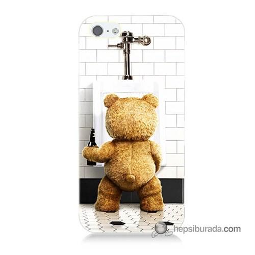 Teknomeg İphone 5S Kılıf Kapak Tedy Bear Baskılı Silikon