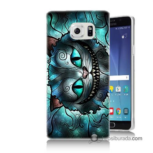 Teknomeg Samsung Galaxy Note 5 Kapak Kılıf Alice Kedi Baskılı Silikon