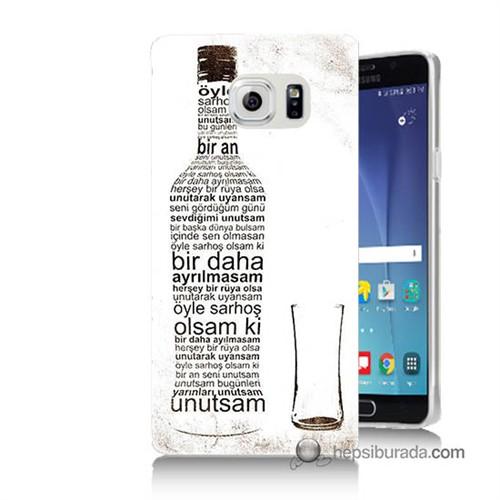Teknomeg Samsung Galaxy Note 5 Kapak Kılıf Rakı Şişesi Baskılı Silikon