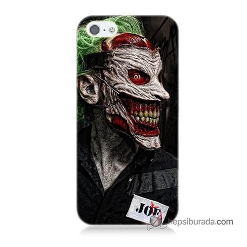 Teknomeg İphone 5 Kapak Kılıf Joker Joe Baskılı Silikon