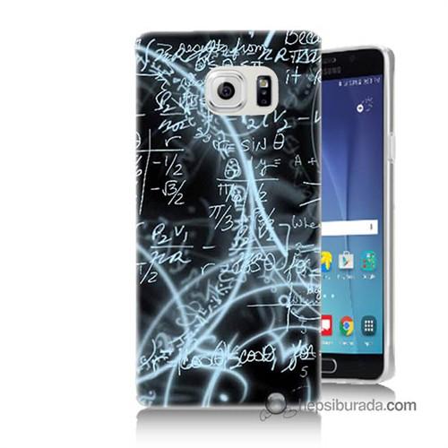 Teknomeg Samsung Galaxy Note 5 Kapak Kılıf Matematik Baskılı Silikon