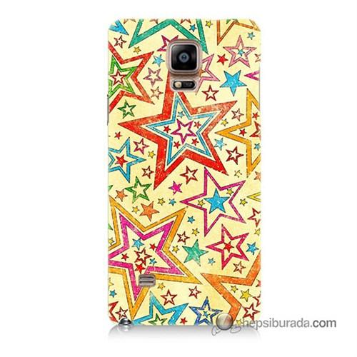 Teknomeg Samsung Galaxy Note 4 Kılıf Kapak Yıldızlar Baskılı Silikon