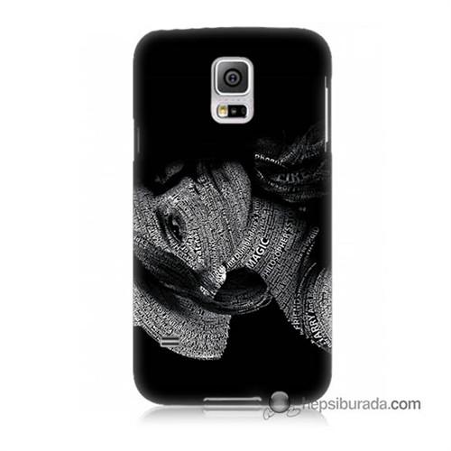Teknomeg Samsung Galaxy S5 Kılıf Kapak Yazılı Kadın Baskılı Silikon