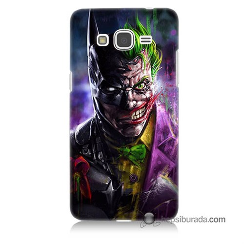 Teknomeg Samsung Galaxy Grand Prime Kılıf Kapak Batman Vs Joker Baskılı Silikon